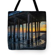 Sunset Under The Ventura Pier Tote Bag