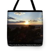 Sunset Valley Of The Gods Utah 01 Text Black Tote Bag