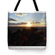 Sunset Valley Of The Gods Utah 01 Text Tote Bag