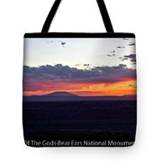 Sunset Valley Of The Gods Utah 05 Text Black Tote Bag