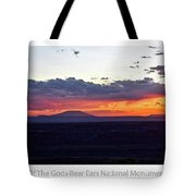 Sunset Valley Of The Gods Utah 05 Text Tote Bag