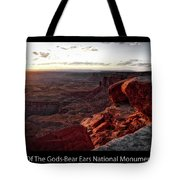 Sunset Valley Of The Gods Utah 09 Text Black Tote Bag