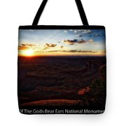 Sunset Valley Of The Gods Utah 11 Text Black Tote Bag