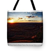 Sunset Valley Of The Gods Utah 11 Text Tote Bag