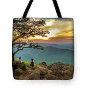 Sunset View At Ravens Roost Panorama Tote Bag