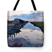 Sunset View At The Art League Of Ocean City - Maryland Tote Bag