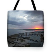 Sunset View From Sandy Neck Light Tote Bag