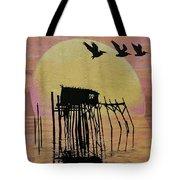Sunset Wall Mural In Cedar Key, Fl Tote Bag