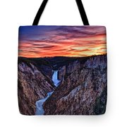 Sunset Waterfall Tote Bag