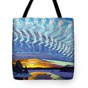 Sunset Waves Nite Tote Bag