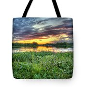 Sunset West Crooked Lake Tote Bag