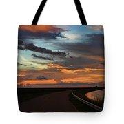 Florida Sunset Winding Road Tote Bag
