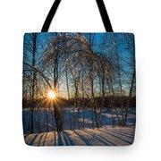 Sunset Winter Shadows Tote Bag