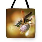 Sunset With A Big Grasshoper Tote Bag
