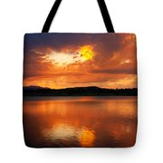Sunset With A Golden Nugget Tote Bag