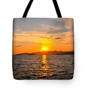 Sunset With Halo Tote Bag
