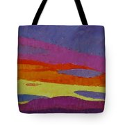 Sunset With Purple Clouds Tote Bag