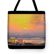 Sunset With Scripture Tote Bag