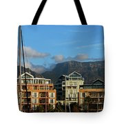 Sunset With Table Mountain Tote Bag