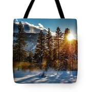 Sunset With Trees Tote Bag