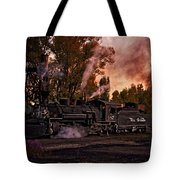 Sunset Work Dogs Tote Bag