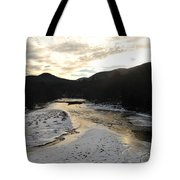 Sunsets On The Pemigewasset Tote Bag