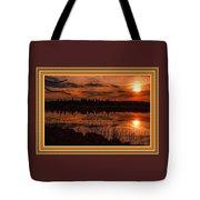 Sunsettia Gloria Catus 1 No. 1 L B. With Decorative Ornate Printed Frame. Tote Bag
