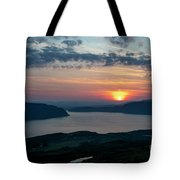 Sunsetting Over Portree, Isle Of Skye, Scotland. Tote Bag