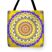 Sunshine And Blue Skies Mandala Tote Bag