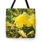 Sunshine And Flowers Tote Bag