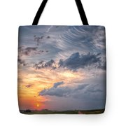 Sunshine And Storm Clouds Tote Bag