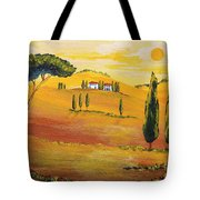 Sunshine In Tuscany In The Morning Tote Bag