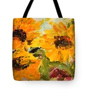 Sunshine On A Cloudy Day Tote Bag by Barbara Pirkle