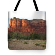 Sunshine On Courthouse Butte Tote Bag