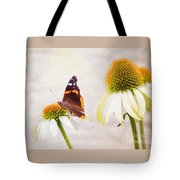 Sunshine On Red Admiral Tote Bag