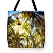 Sunshine Palms Tote Bag