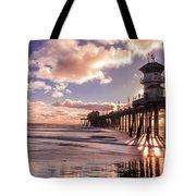 Sunshine Pier Tote Bag