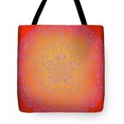 Sunshine Purple Mandala Tote Bag