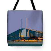 Sunshine Skyway Tote Bag