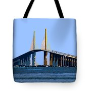 Sunshine Skyway Summer Tote Bag