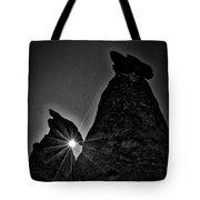 Sunstar At Tent Rocks Tote Bag