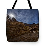 Sunstar Over Mosaic Canyon - Death Valley Tote Bag
