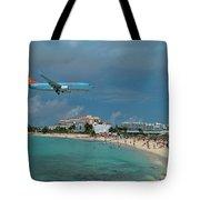 Sunwing Airline At Sxm Airport Tote Bag