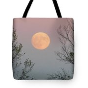 Super Moon At Twilight Tote Bag
