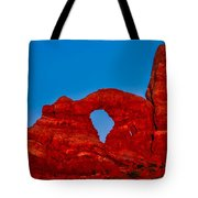 Super Moon Over Arches National Park Tote Bag