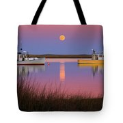 Super Moon Over Nauset Beach Cape Cod National Seashore Tote Bag