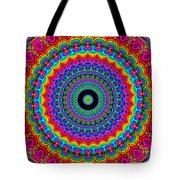 Super Rainbow Mandala Tote Bag