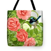 Superb Wren And Camellia Tote Bag