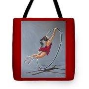 Supergirl On Cyr Wheel  Tote Bag