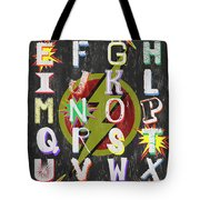 Superhero Alphabet Tote Bag